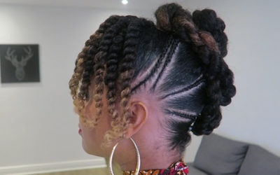 #RTM   TUTO Quick and Easy Frohawk Hairstyle on Natural Hair