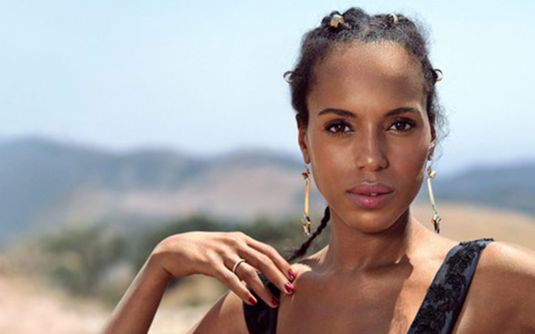 Kerry Washington FLAWLESS en une du magazine Allure