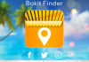 Logo de l'application Bokit Finder avec les icones des différents réseaux sociaux